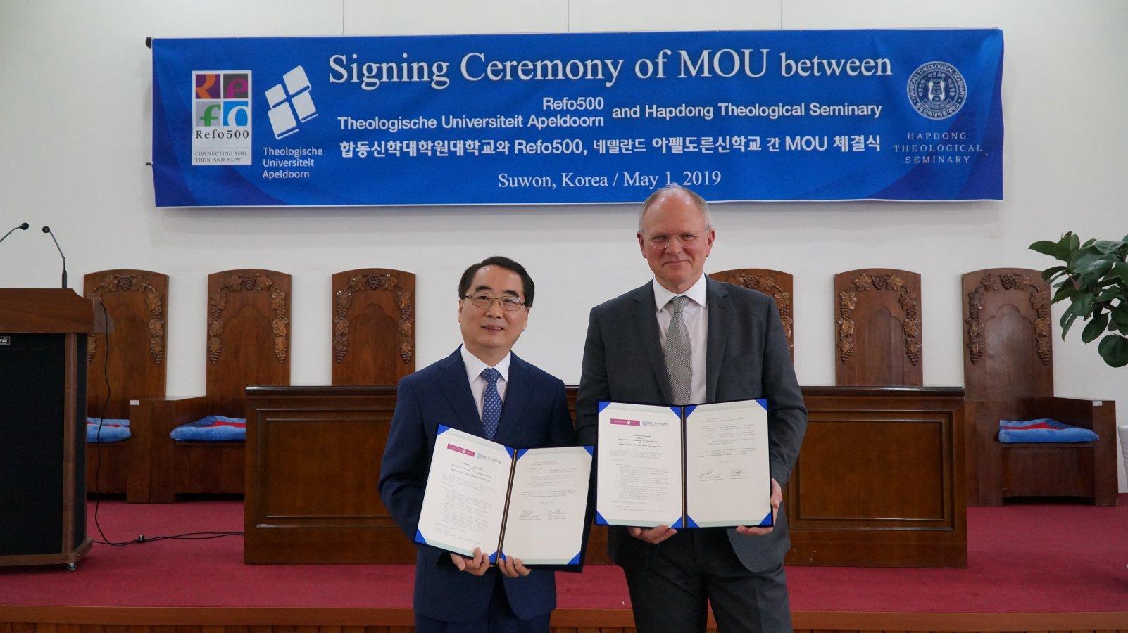 Image Samenwerkingsovereenkomst met Hapdong Theological Seminary