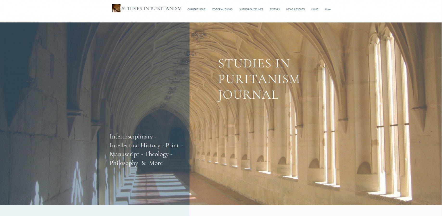 Image Studies in Puritanism Journal – een nieuw internationaal academisch tijdschrift